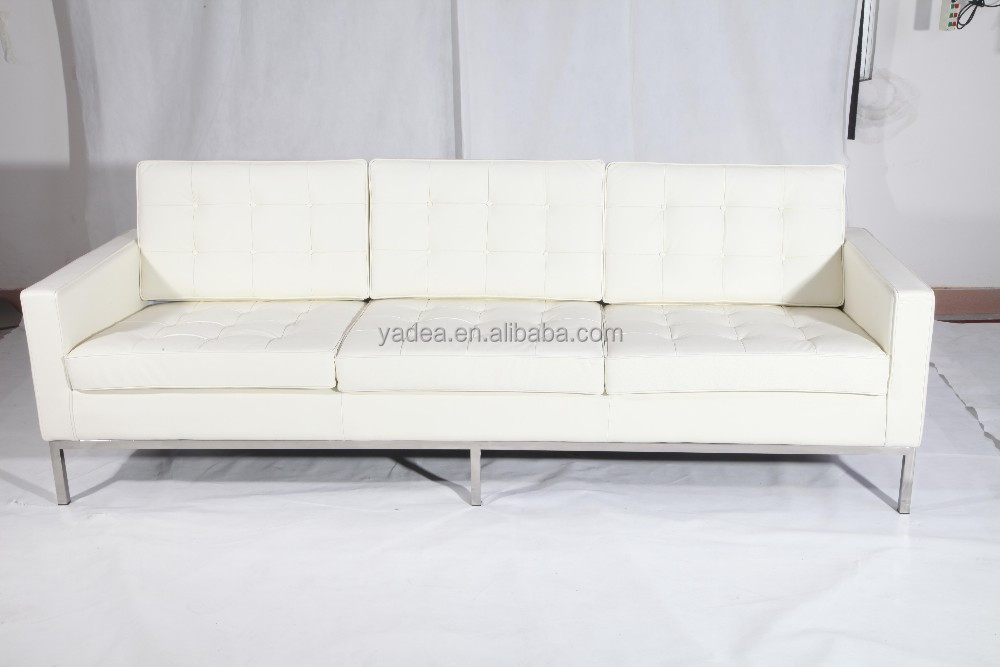 Florence Knoll White Leather Sofa Designer Sofa Bed Buy Designer