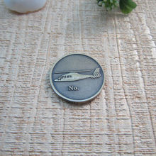 Antique silver coin blank silver coin with logo engraved