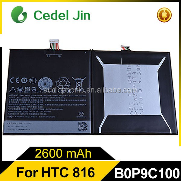 3.8V lithium battery for HTC A5 Desire 816 Desire 816w B0P9C100 cell phone battery