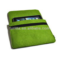 10'' inch good quality wholesale felt pouch sleeve / case for iPad / kindle