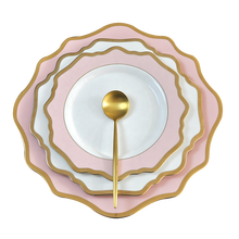Dinnerware set luxury porcelain cheap decoration charger <strong>plate</strong> in antique gold <strong>plate</strong>