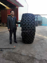 skid steer loader tire snow chains for 29.5-25