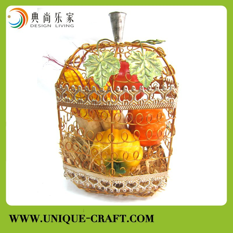 Metal wire Pumpkins decor For Harvest Season and Festival Home Decoration