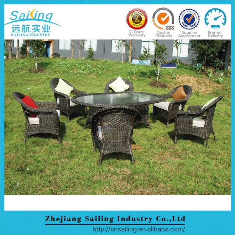 Sailing French Style Cheap Cebu Used Garden Pe Rattan Composite Patio Furniture
