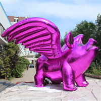 Customize Decoration pink Inflatable pig with wings for Event Decoration