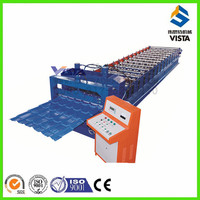 steel cold roll forming machine, glazed metal roof shingles roll forming machine