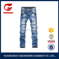 casual sports middle waist no name brand denim jeans for men with spandex