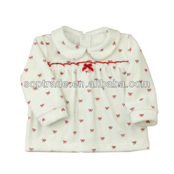New born baby girl winter cotton dresses