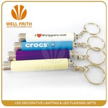 Promotion gifts led flashlight projector keychain, Led Mini Logo Projector Torch Keychain