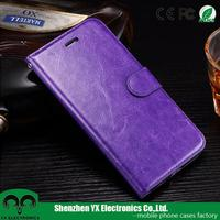 high quality flip phone cover pu leather wallet case for iphone 7 plus