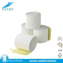 3 inches x 60 ' carbonless paper roll 2 ply - 65gsm