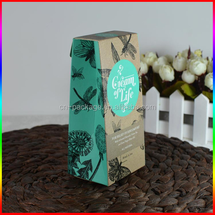 facial olive oil krfat paper packing box with logo pritning