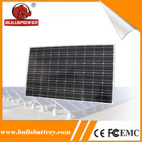 Low degradation 260w mono custom shaped solar panels for home