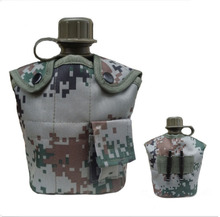 military aluminum cup and cover canteen plastic water bottle