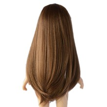 "Heat resistant synthetic drop shipping American girl doll wigs,doll hair wigs,Synthetic PVC 18"" doll wigs"