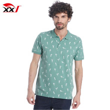 Men clothing wholesale custom all over printed regular 100% polo t-shirt online shopping