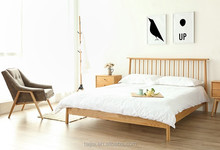 Safety standard modern nature solid pine best wood for platform bed