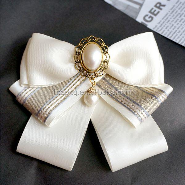 Handmade elastic loop polyester satin ribbon bows for perfume bottle