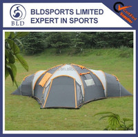 Hot sale and Fashion 3 Room 8 Person Extra Large Family Camping Tent