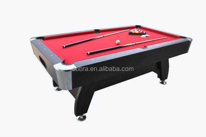 Classic Pool table,top selling home use billiard table,automatic ball return system,red wool carpet billiard table,metal corner