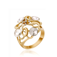 Gold plating fashion jewelry design low cost engagement ring for women
