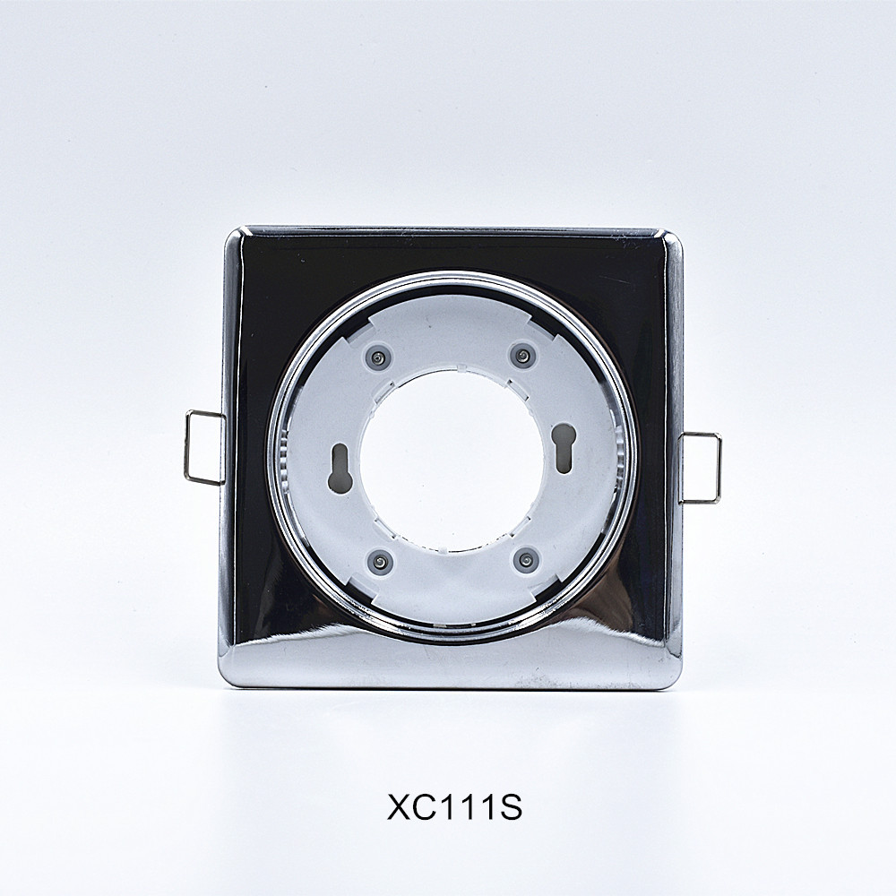 Wholesale price GX53 spot light housing silver electroplating downlight fixture reflective light fitting