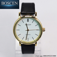 BOSCEN New Women Business Watches 2015 Female Ladies Watches Leather Women's