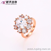 12638- xuping 2016new big stnoe ring latest gold ladies finger ring designs