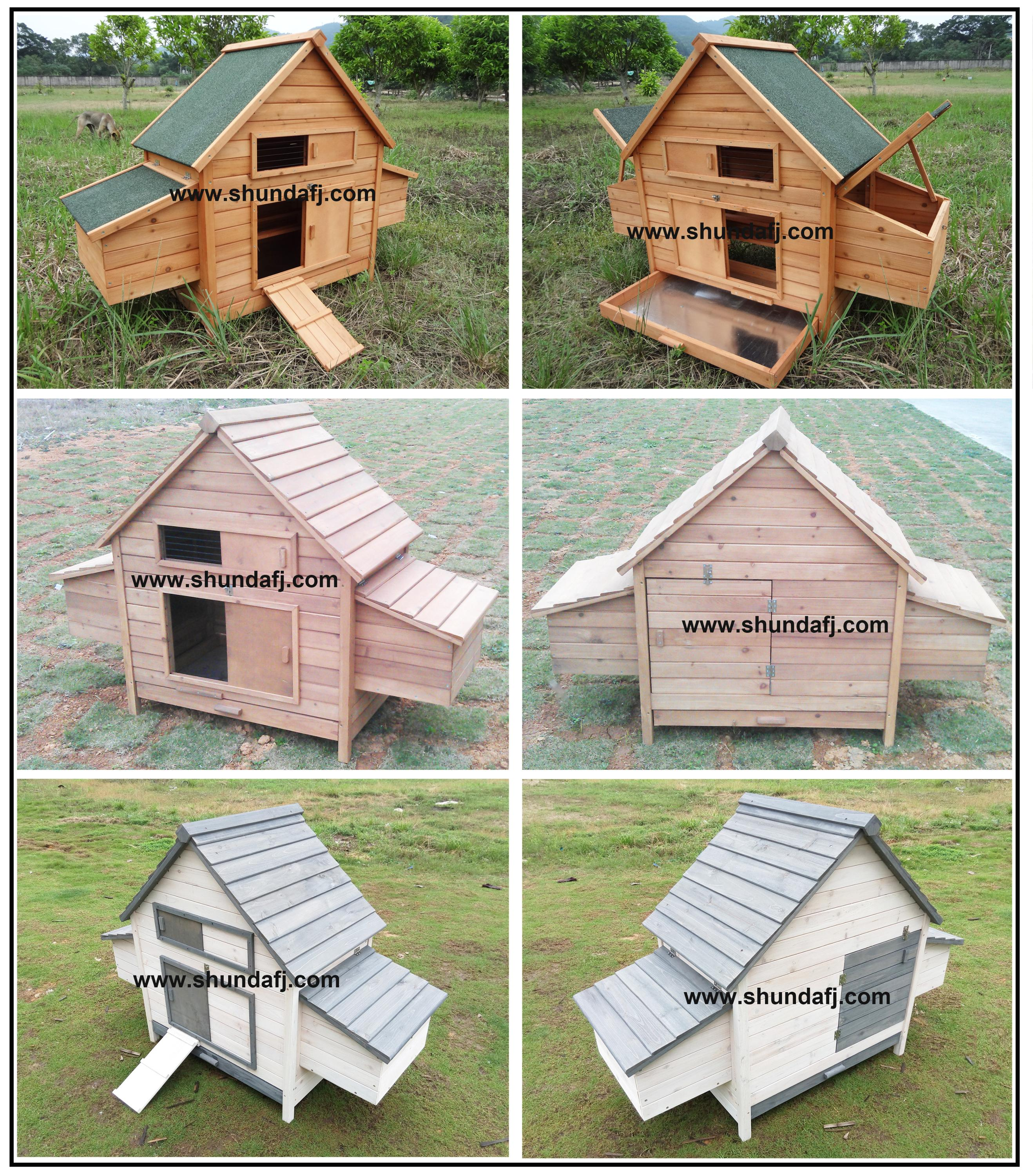 SDC002-D Egg laying Wooden Hen House with Nest boxes