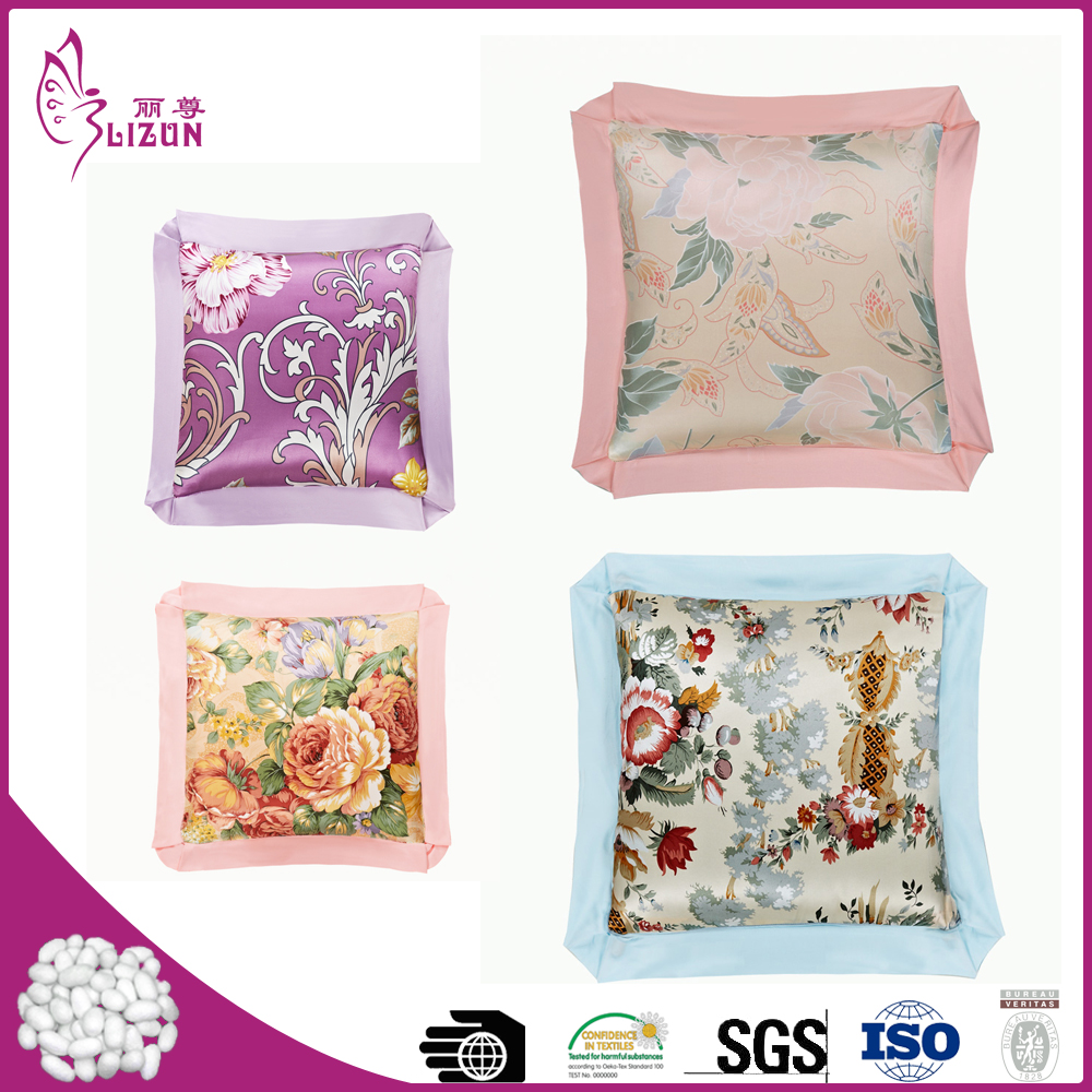 Top quality factory wholesale silk pillow blanket