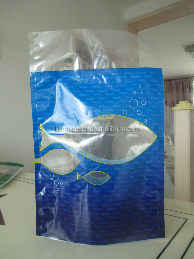 Wide seal Storage Insert paper card seafood plastic bag