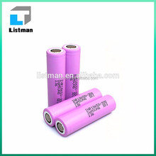 INR 18650 30Q 3000mah 3.7v lithium li ion alkaline polymer battery for e cigarette