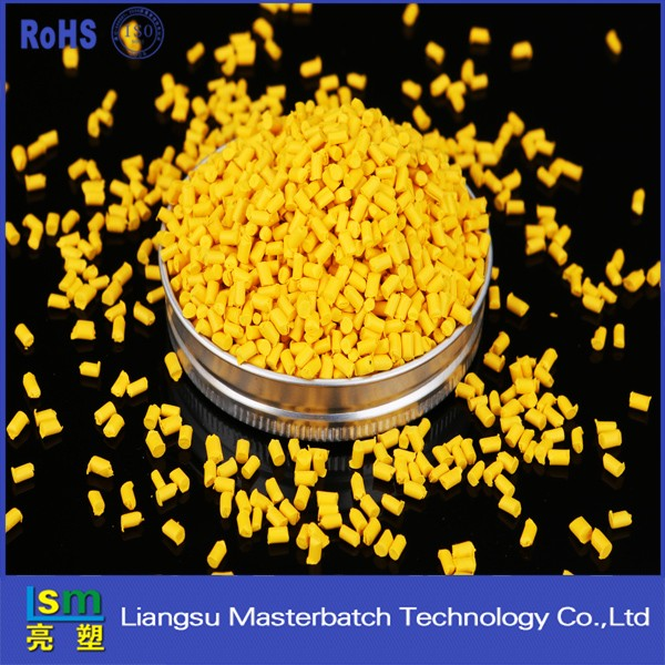 virgin pe ldpe hdpe plastic master batch yellow color masterbatch price factory