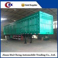 van type truck trailer / cargo transport box semi trailer / 3 axles dry van type box semi truck trailer for sale