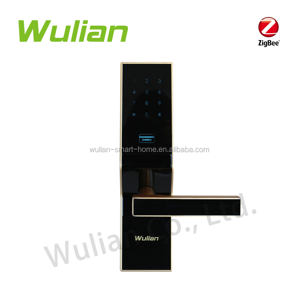 Smart Electronic Lock with Card & password function for wulian zigbee wireless solution