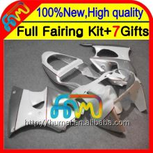 white silver Body For KAWASAKI ZZR 600 05 06 07 08 636 ZZR600 silvery white CL1381 ZZR-600 NINJA 2005 2006 2007 2008 Fairings