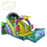 China Fwulong Cheap Elephant Juniors Inflatable Slides for Sale