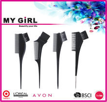 MY GIRL Professional Tint Needle Soft Plastic Dye Hair Comb Set Black Hair Paint Brushes Wholesale