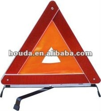 orange and yellow fluorescent warning triangle fabric