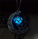 Magic Moon Heart Glow In The Dark Necklace Hollow Luminous Necklaces