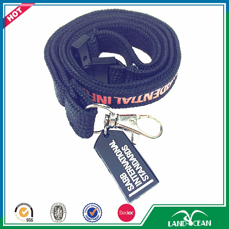 2017 New arrive tubular lanyards with logo custom