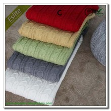 2Layer 85% Acrylic & 15% Polyester Cable Knit Blanket