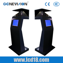 HD digital signage Virtual Projection 270 Degree pyramid 3d holographic display with the stand