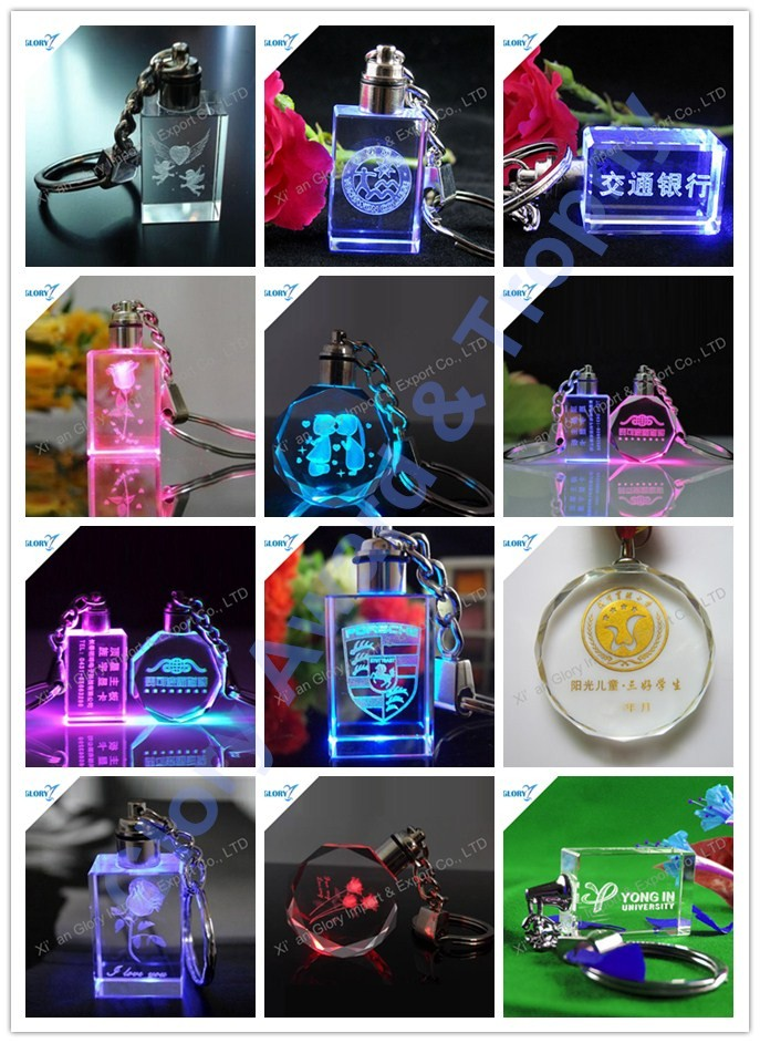 Wholesale 3D Laser Engraving Crystal Keychain