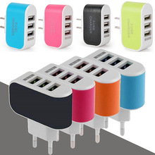 Wholesale mini usb wall charger Wall Charger 3 port, multi USB AC Universal Power Home Wall Travel Charger Adapter for cellphone