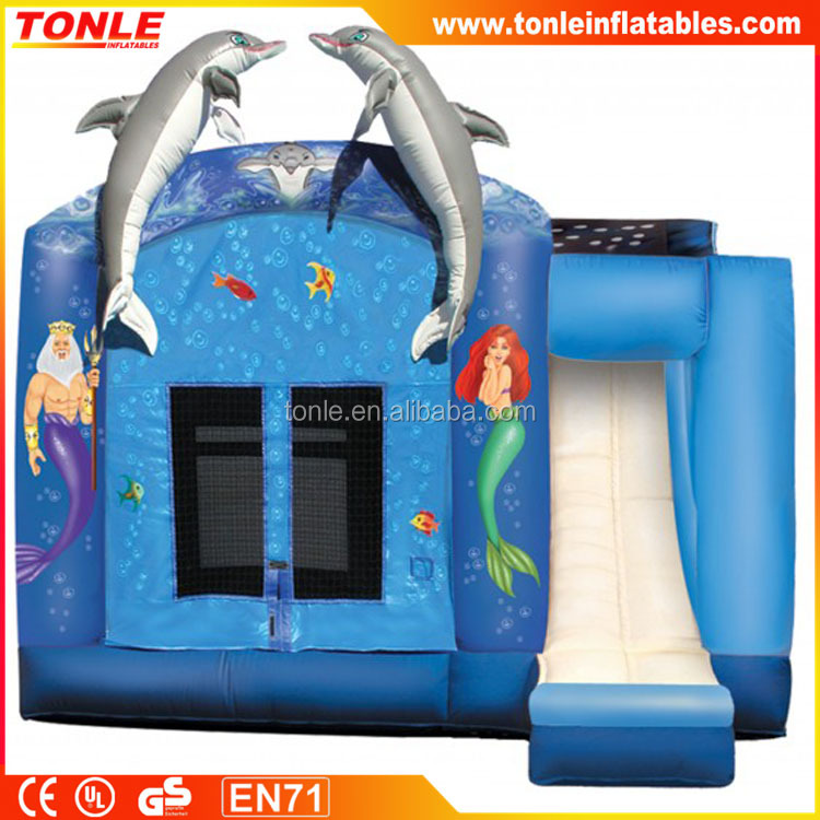 4 in 1 Inflatable Little Mermaid bouncer Combo, inflatable bouncy castle combo, inflatable jumping castle combo