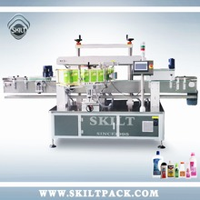 Automatic adhesive stikcer beer bottles labeling machine on two sides