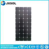 Factory direct sale! 150w mono solar panels with best efficiency and IEC TUV CE ISO Certificate