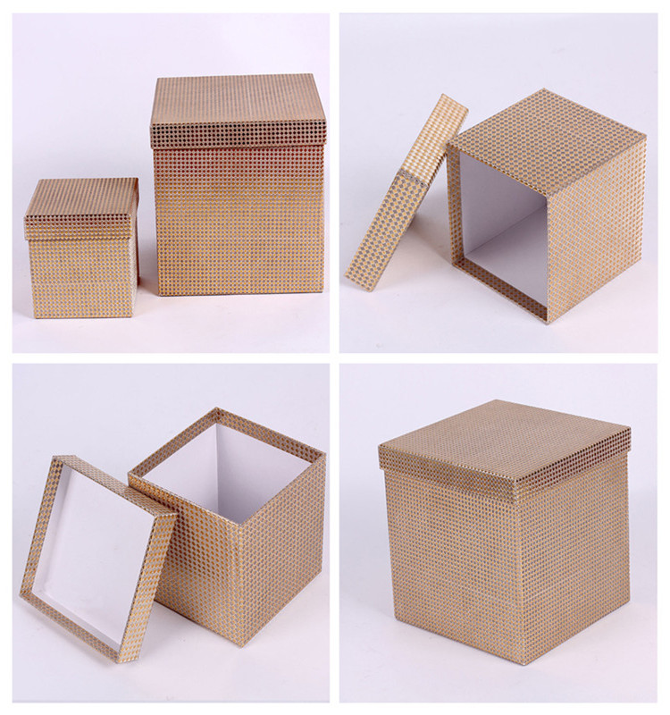 Customized square storage box creative paper glitter cardboard gift box
