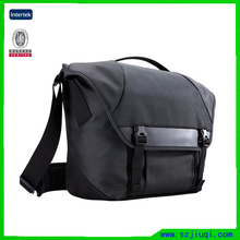 Men durable black oxford cloth messenger bag hidden camera bag